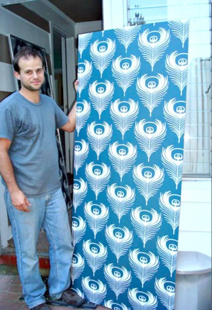 DIY Extra Large Wallpaper Panels
