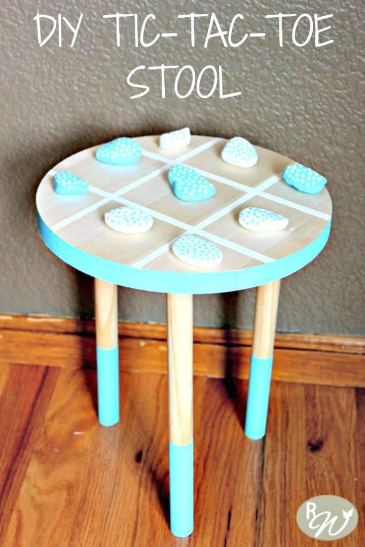 Awesome DIY Tic-Tac-Toe Stool