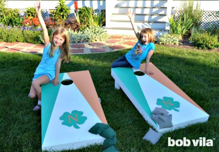 Easy DIY Cornhole Set For Kids