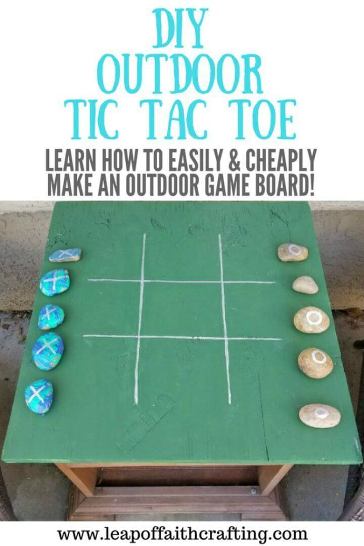 How To Make Tic Tac Toe Outdoor Game - DIY
