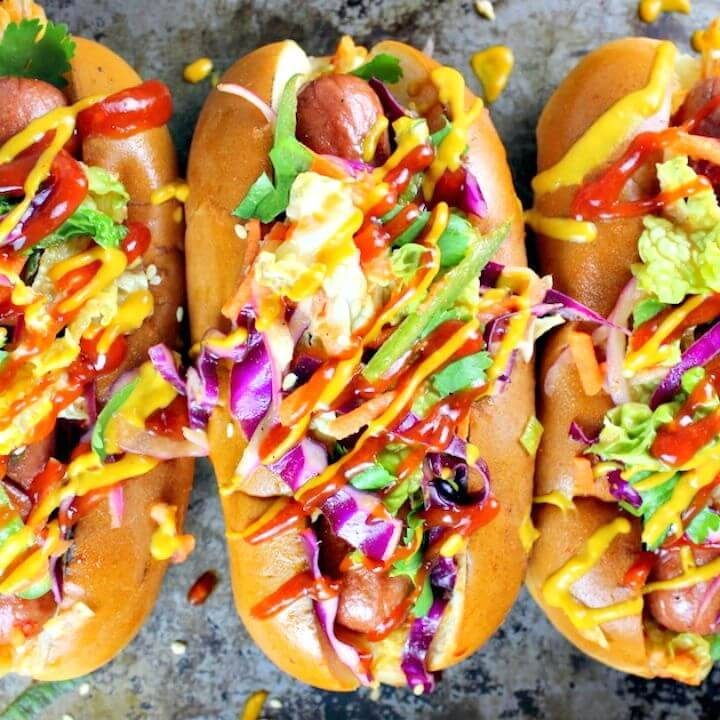 Korean Slaw Hot Dog Recipe