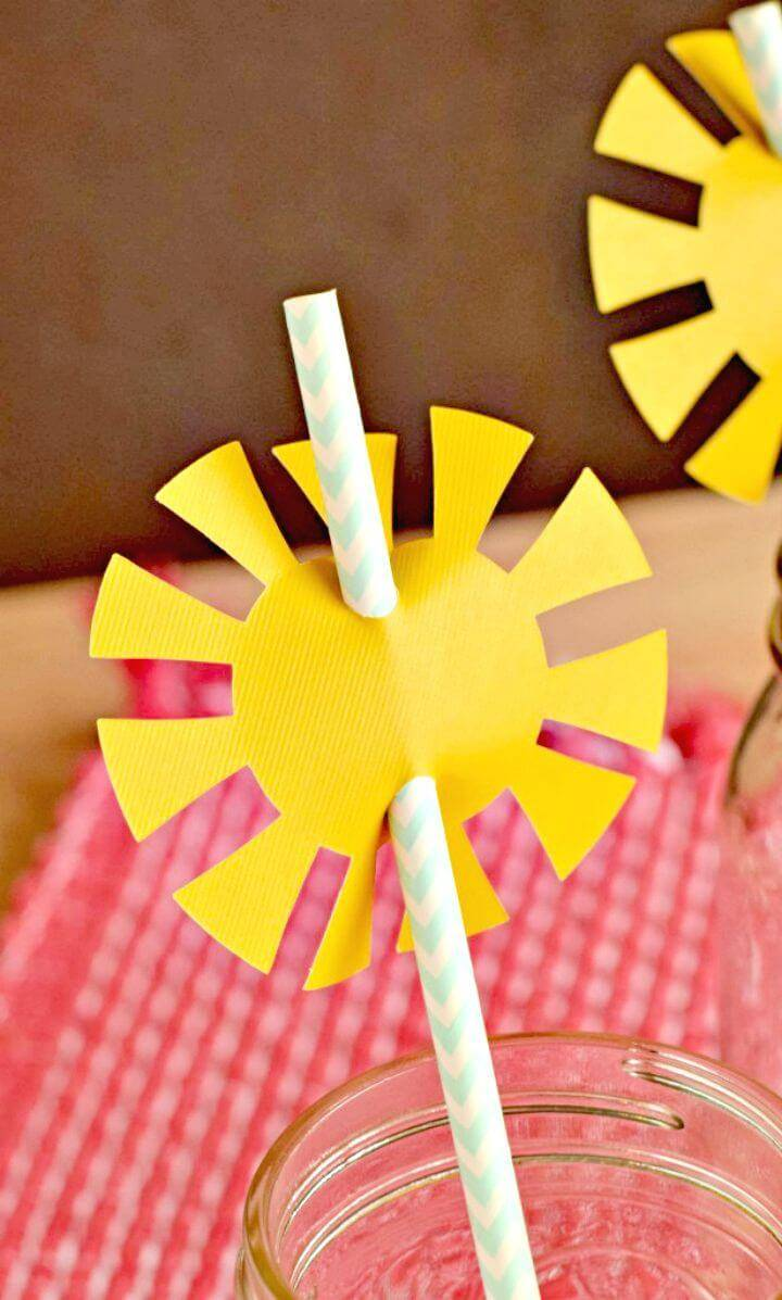 Create Sunshine Straw Toppers