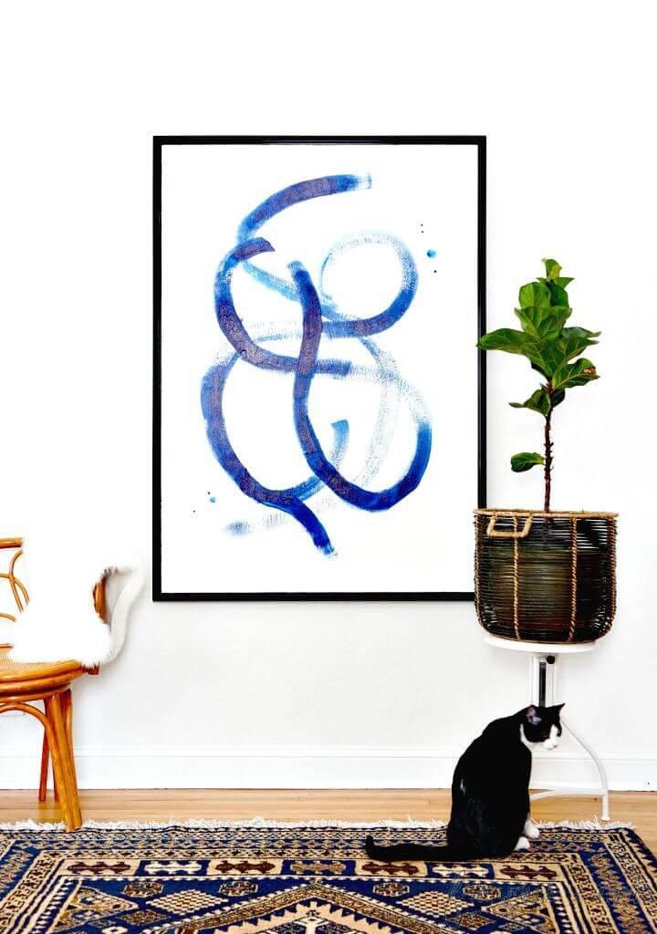 Create Brushstroke Statement Art - DIY Wall Art Ideas