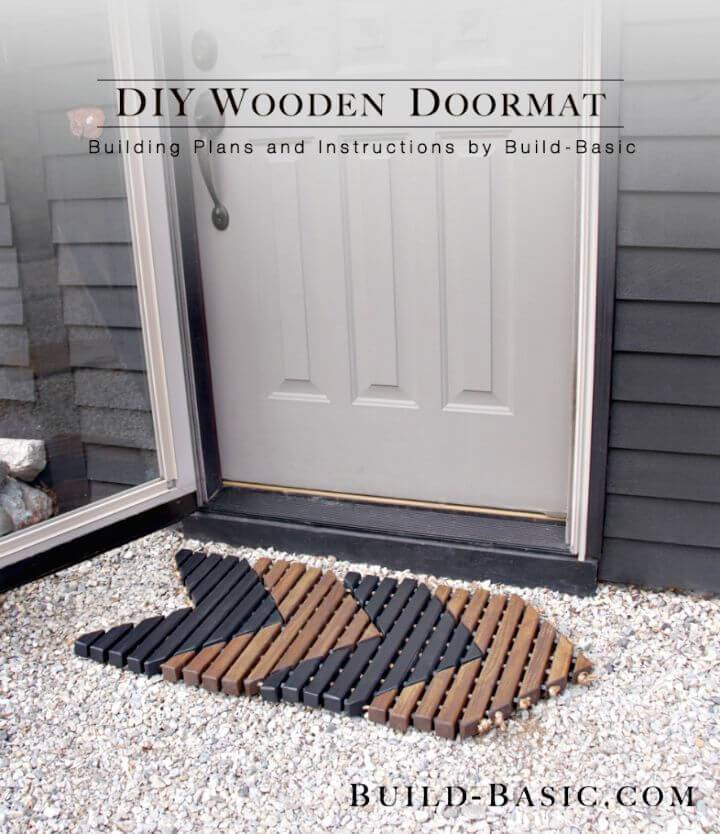 Make Your Own Wooden Doormat - Free Tutorial