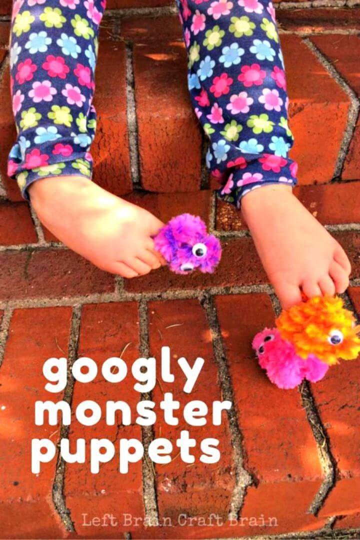 Cute DIY Googly Monster Finger Puppets for Little One