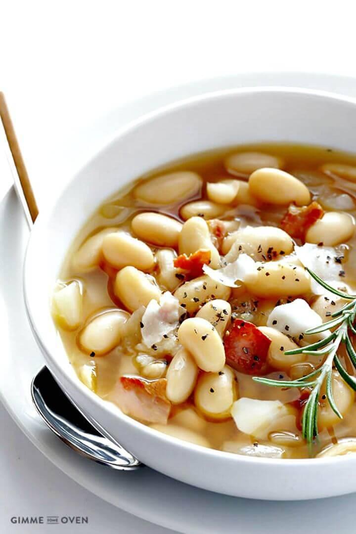 7-ingredient Tuscan White Bean Soup Recipe - DIY