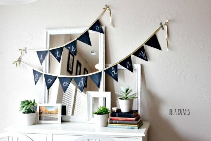 Cute DIY All-occasion Chalkboard Banner