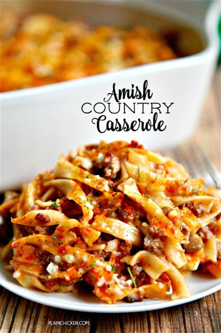 Amish Country Casserole Recipe - DIY