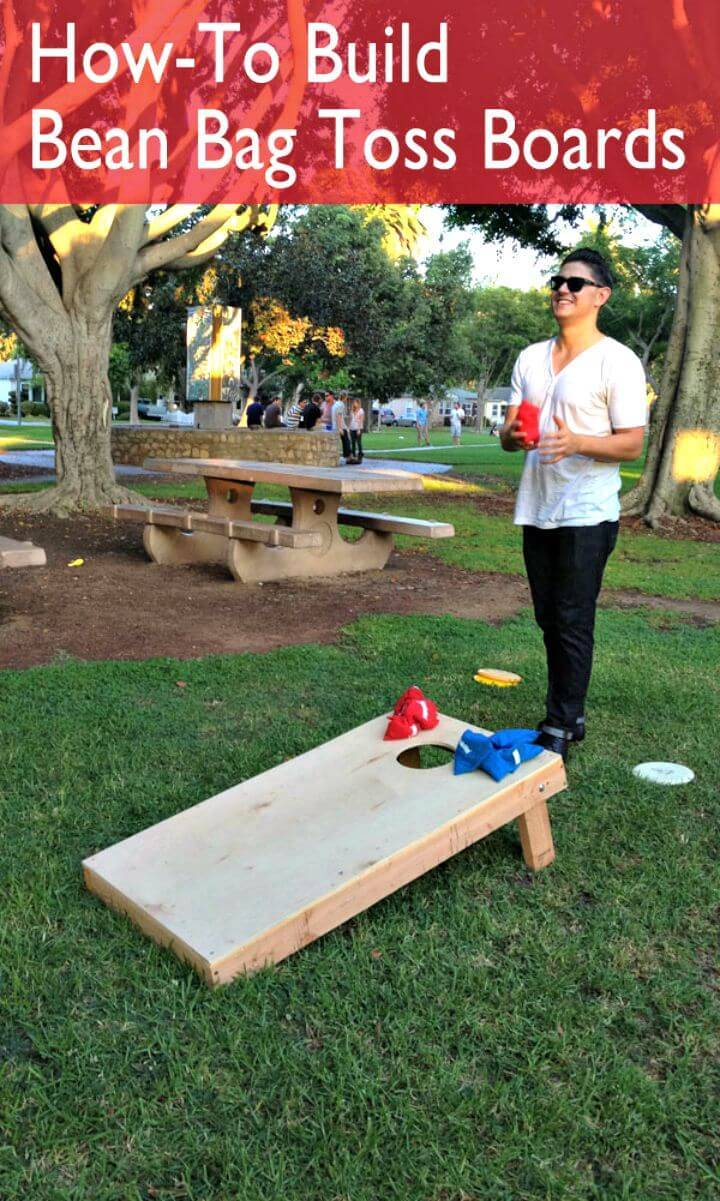 Easy DIY Bean Bag Toss Board