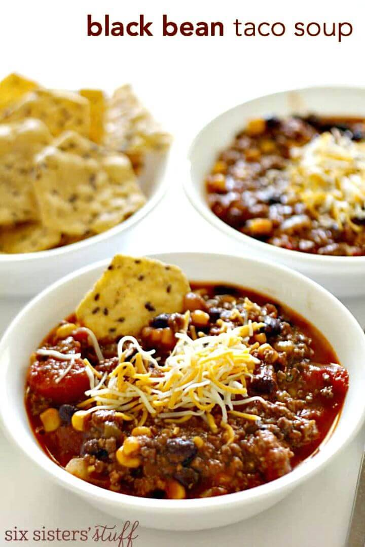 Black Bean Taco Soup Recipe - DIY