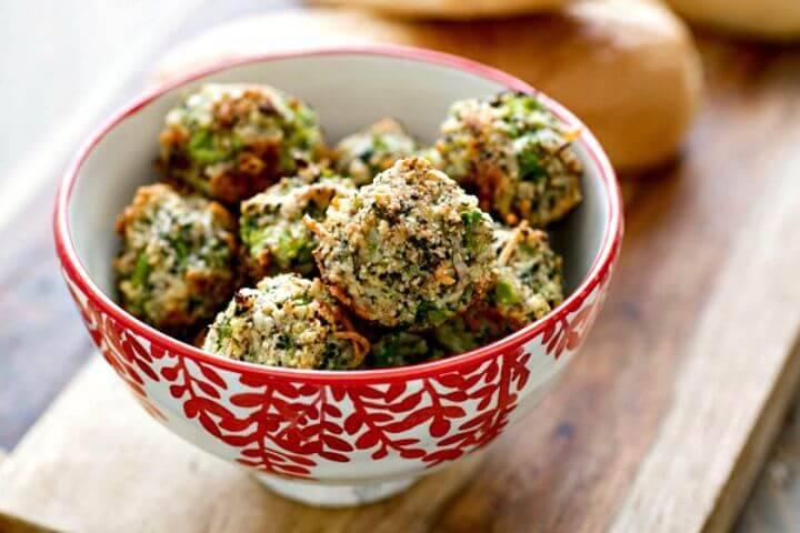 Broccoli Parmesan Meatballs Recipe - DIY