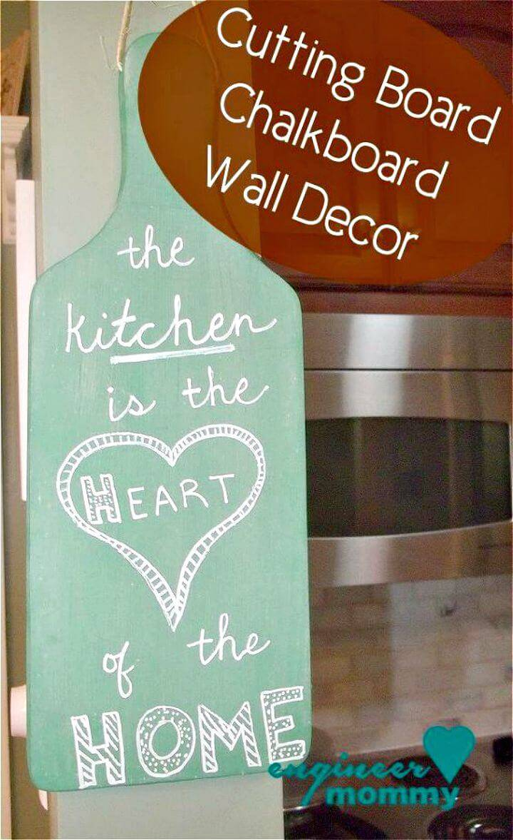 How to Make Chalkboard Cutting Board