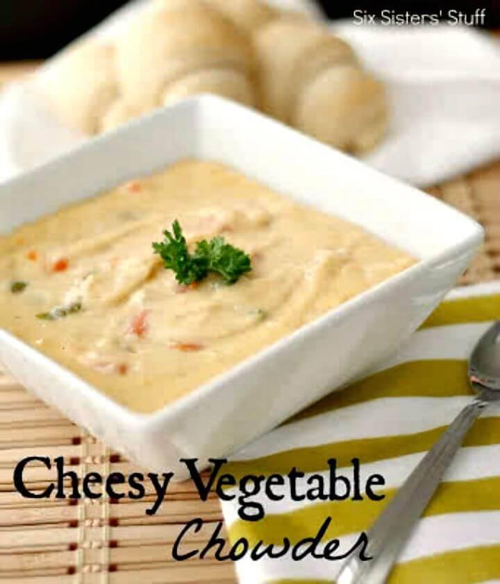 Cheesy Vegetable Chowder Recipe