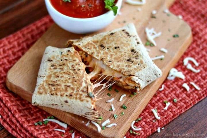 Chicken Parmesan Wraps Recipe - DIY