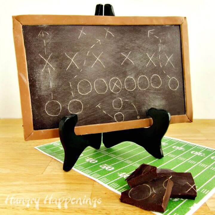 DIY Chocolate Game Plan Chalkboard
