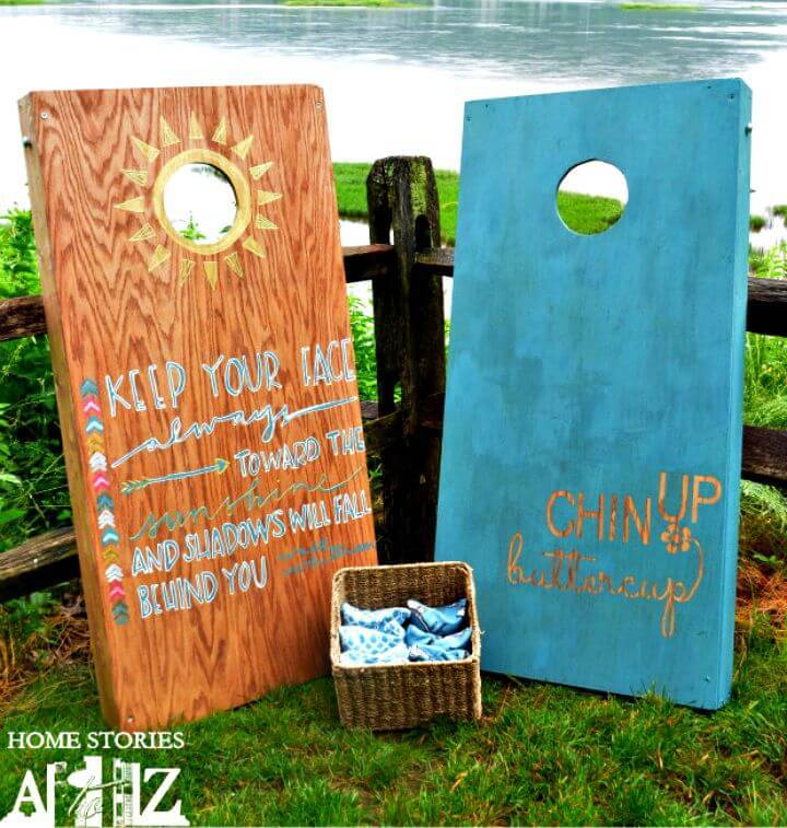 How to DIY Cornhole Board For Father Day