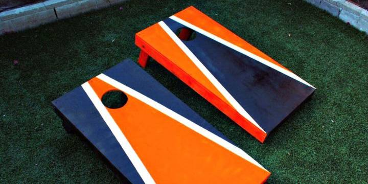 Easy DIY Cornhole Boards For Outdoor Summer Game