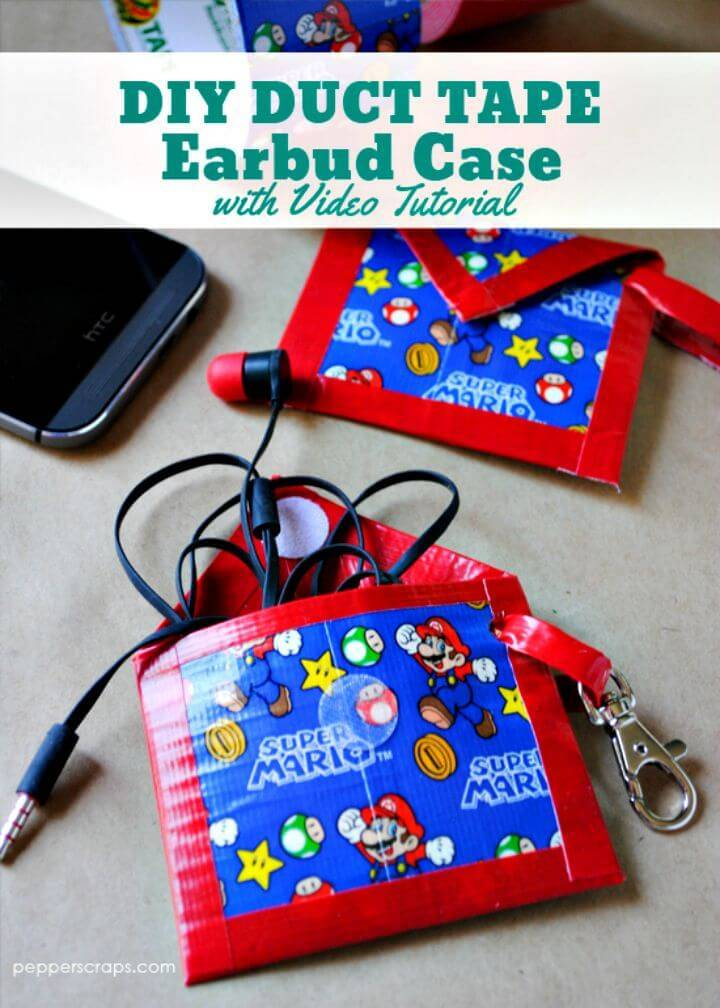 Easy DIY Duct Tape Earbud Case