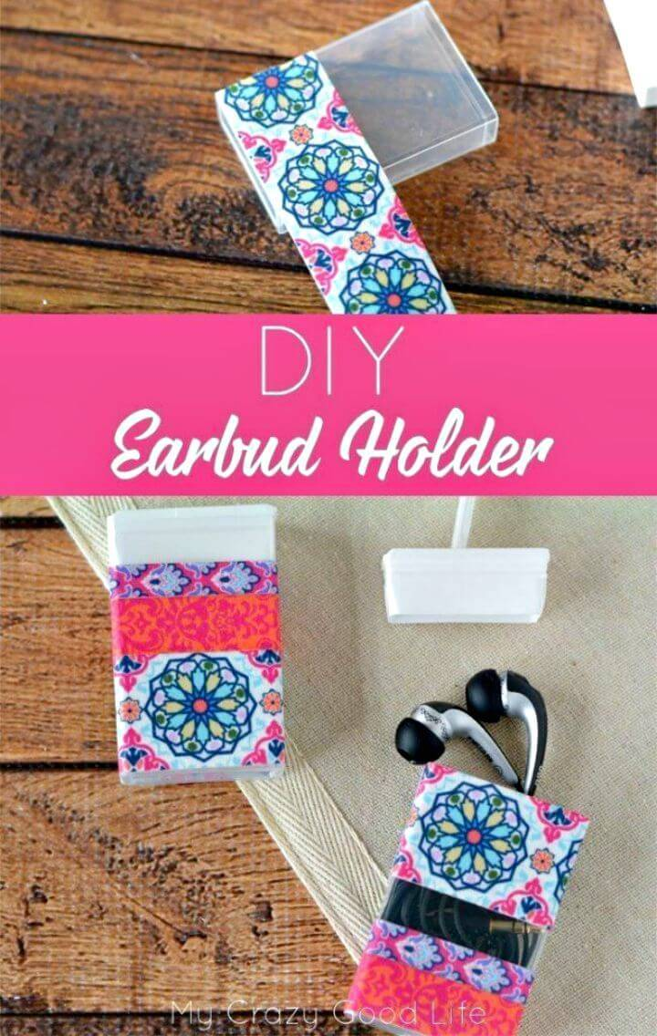 DIY Earbud Holder from Tic Tac Containers
