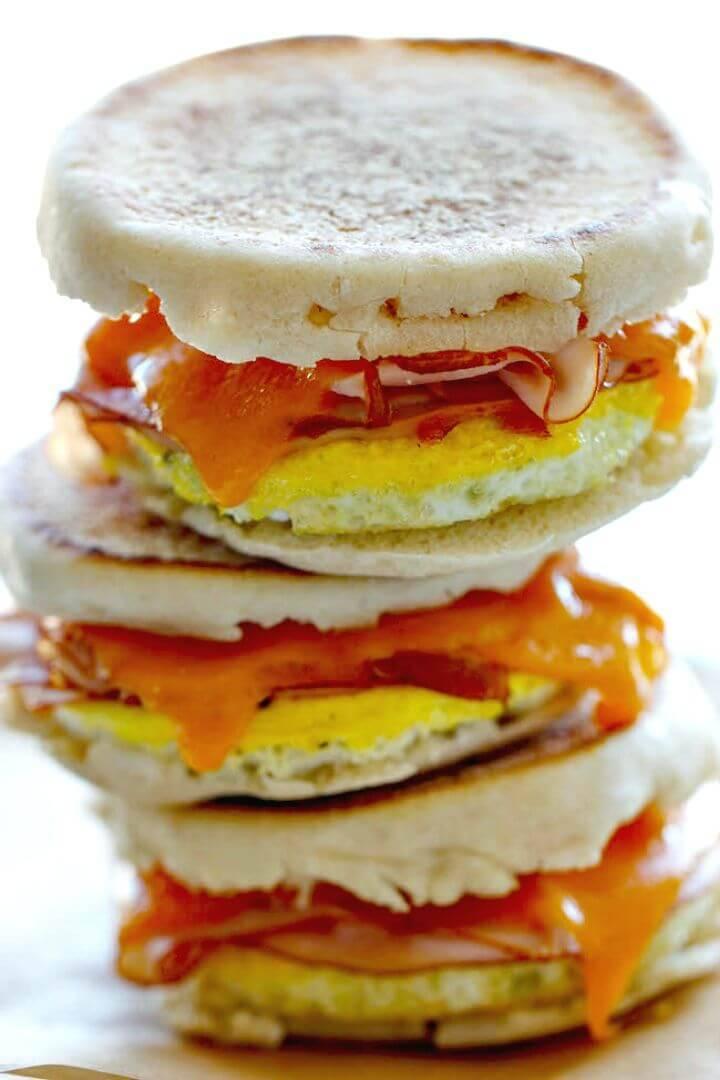 Freezer Breakfast Sandwiches Recipe - DIY