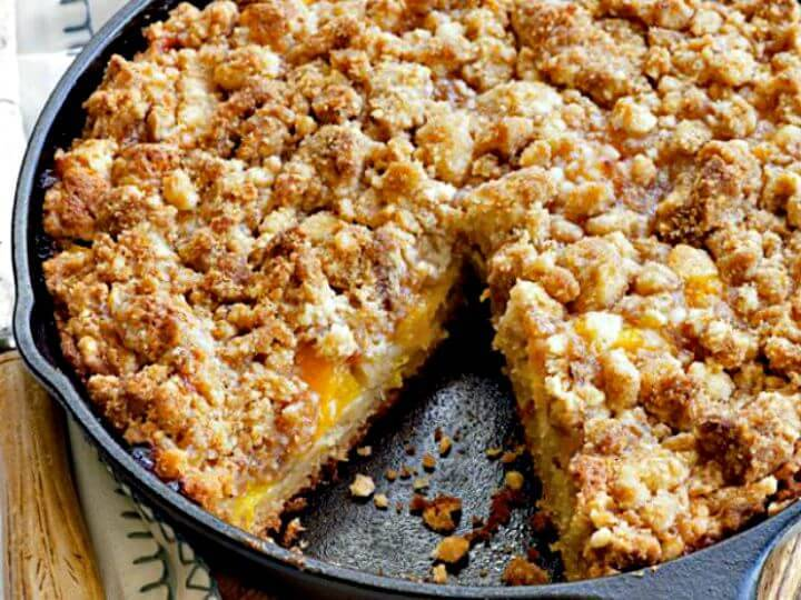 Easy Fresh Peach Crumb Coffee Cake Recipe