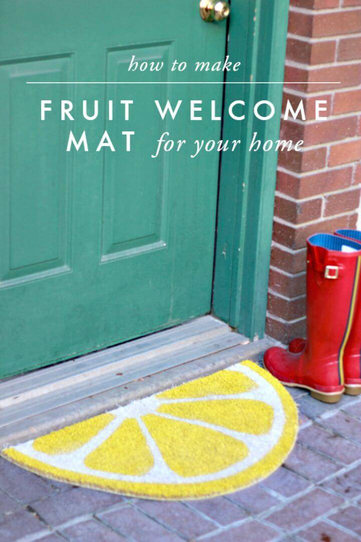 Easy to Make a Fruit Welcome Mat - Free Tutorial