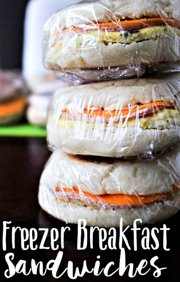 Homemade Freezer Breakfast Sandwiches Recipe - DIY