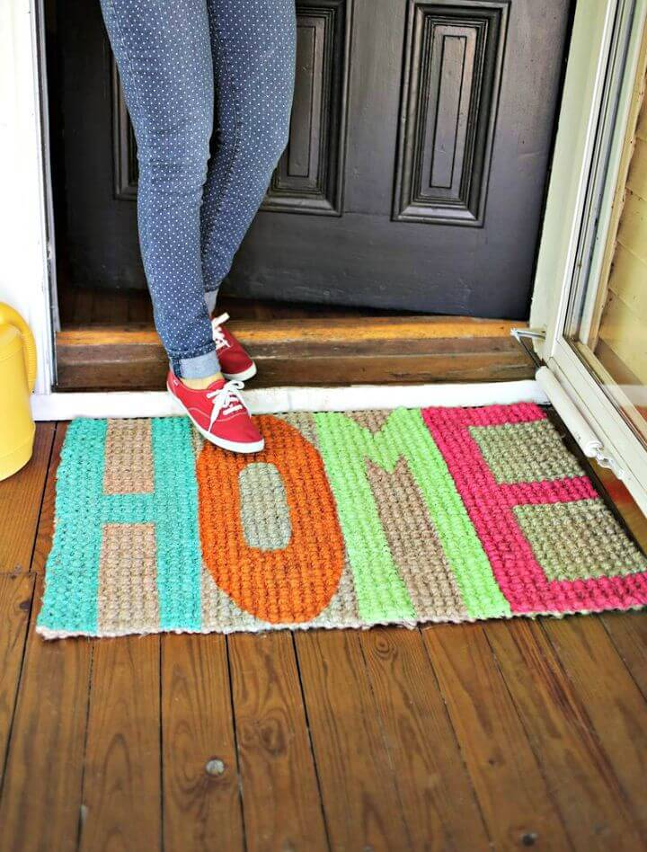 Easy DIY Homemade Welcome Mat Tutorial