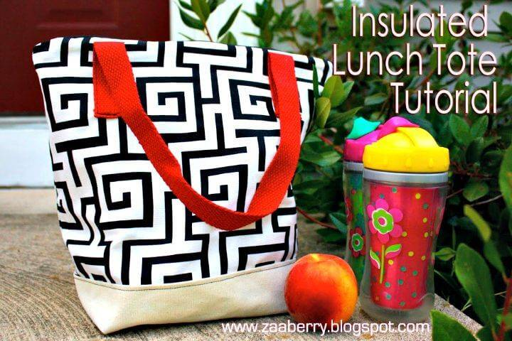 DIY Insulated Lunch Tote Tutorial
