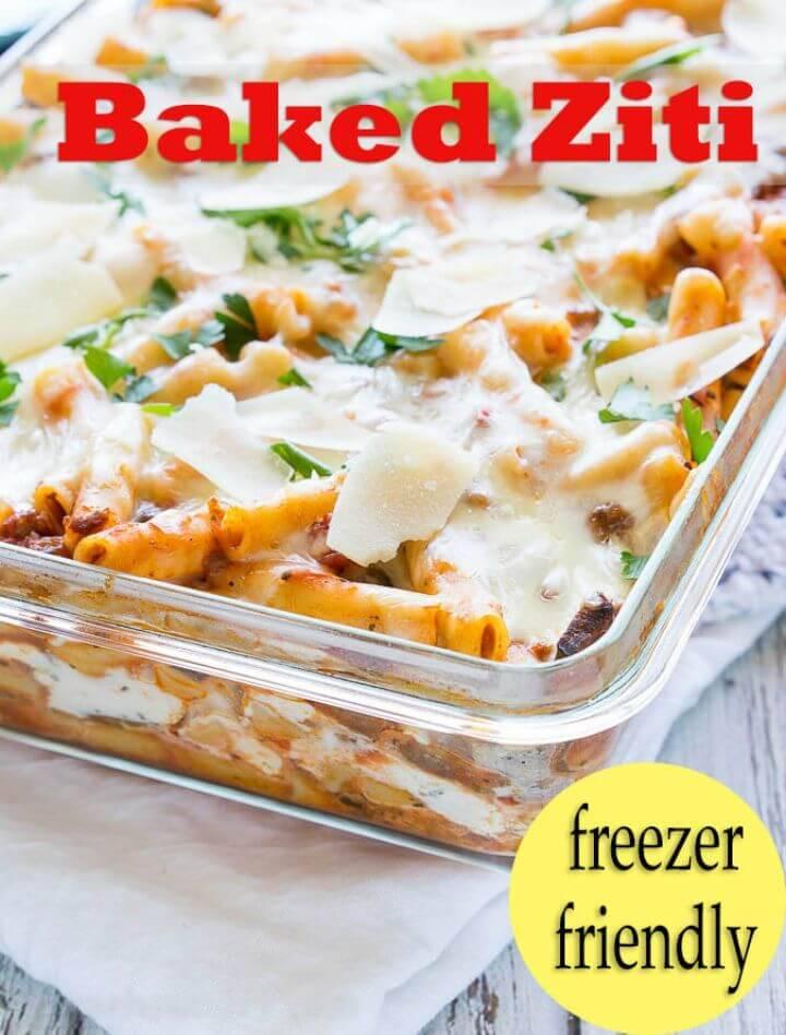 How to Make Italian Baked Ziti Recipe - DIY