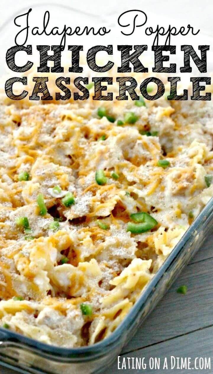 Jalapeño Popper Chicken Casserole Recipe - DIY