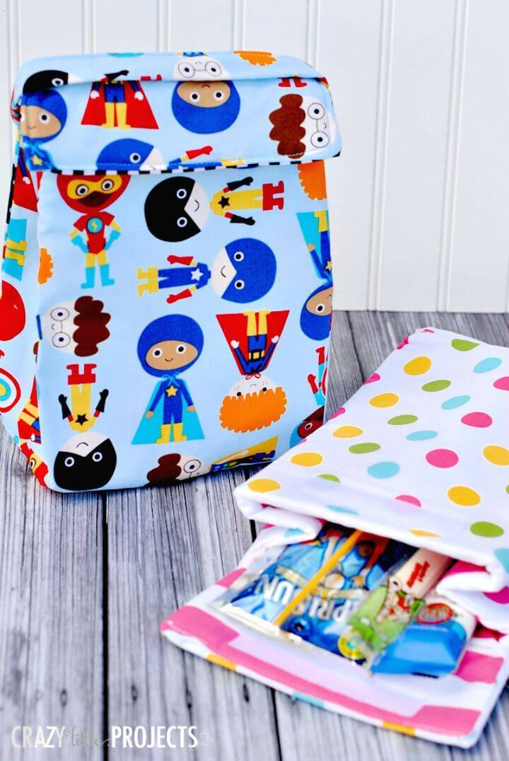 Easy DIY Kids Insulated Lunch Box