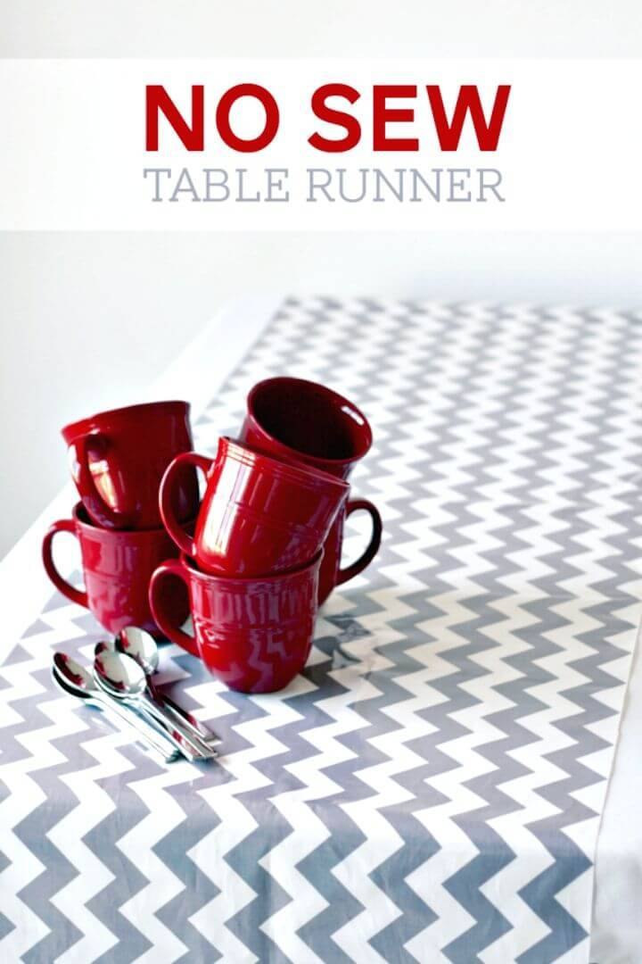 DIY No-sew Chevron Table Runner