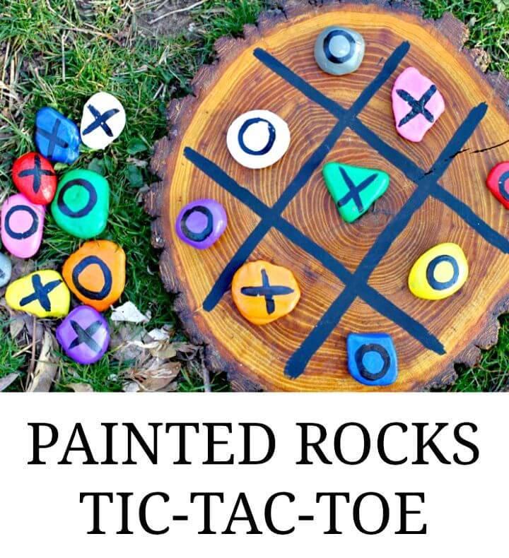 Easy DIY Painted Tic-Tac-Toe Rocks
