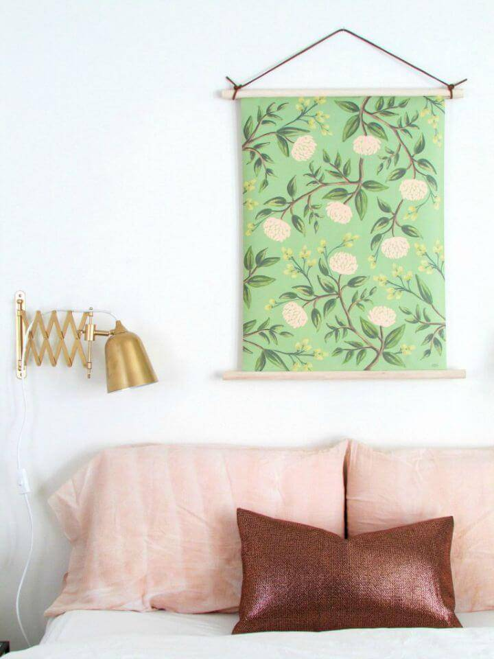 DIY Pull-down Style Botanical Wall Hanging - Wall Art Ideas