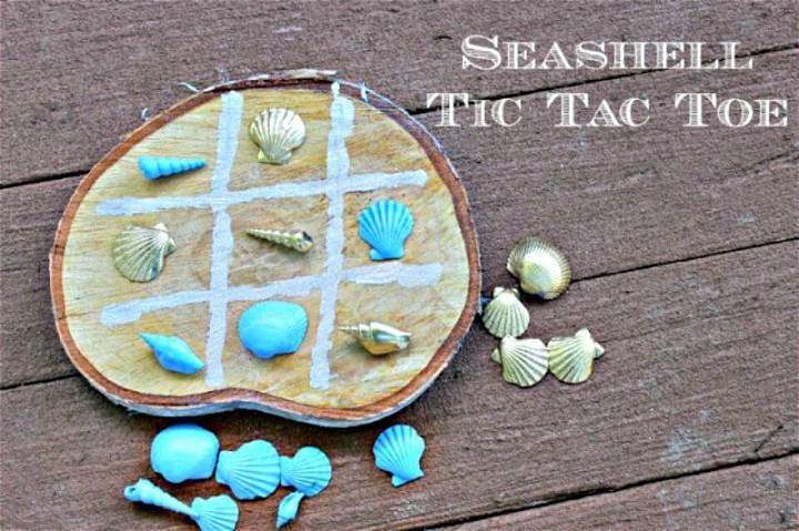 Quick DIY Seashell Tic-Tac-Toe