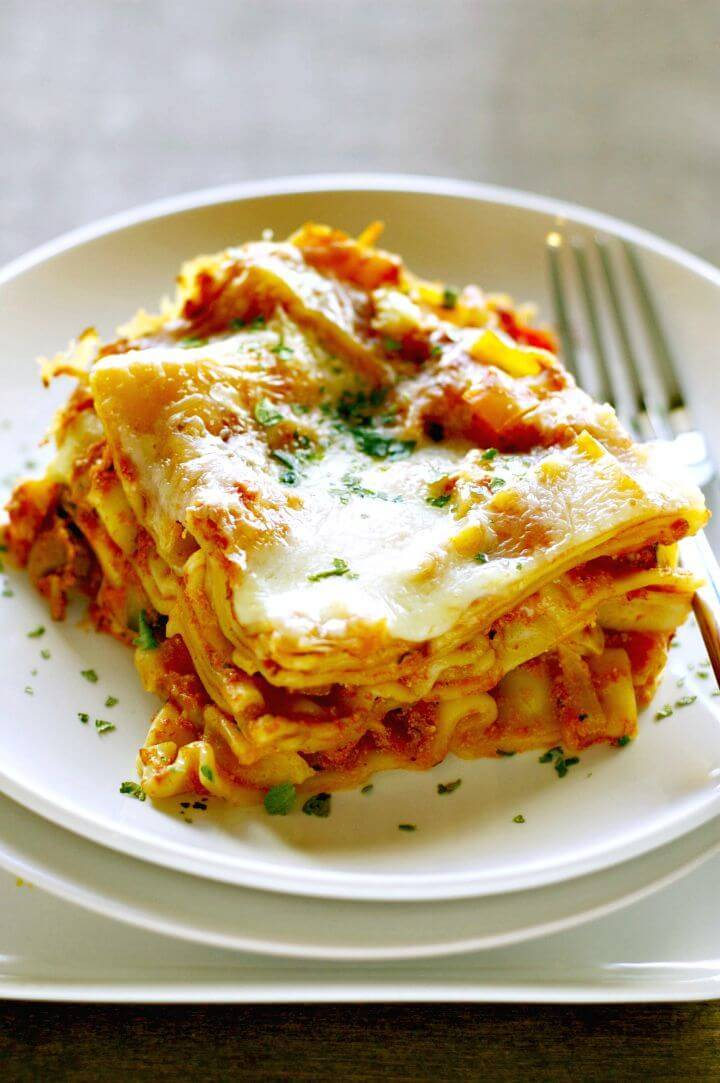 Slow Cooker Veggie Lasagna Recipe - DIY