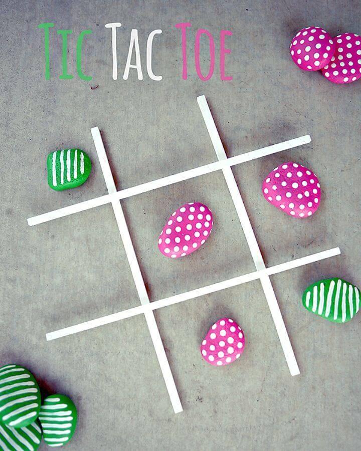 How to Make Tic Tac Toe Rock Set - DIY