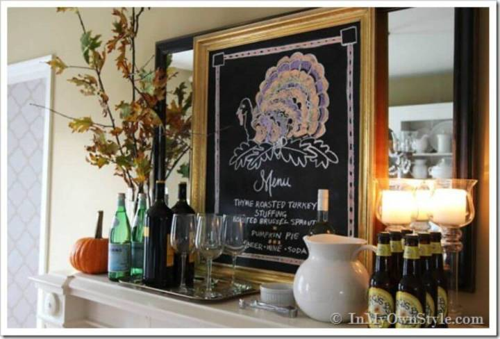 Easy DIY Turkey Chalkboard Art