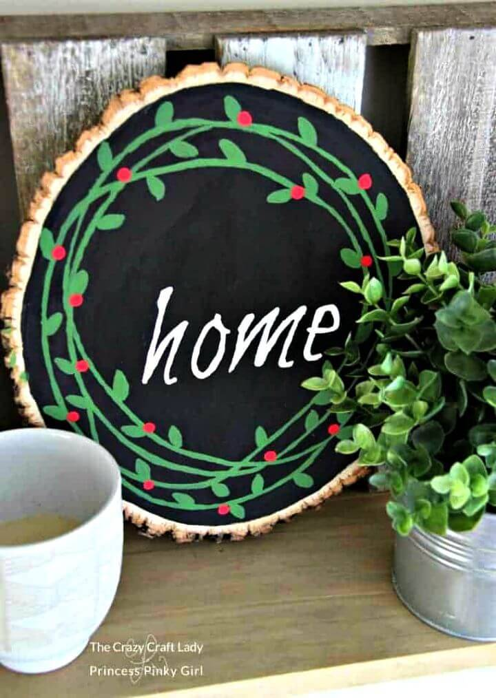 Build a Wood Slice Painted Wreath