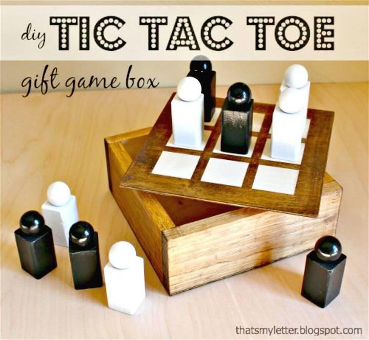 Make Wood Tic Tac Toe Gift Box Set - DIY Game Projects