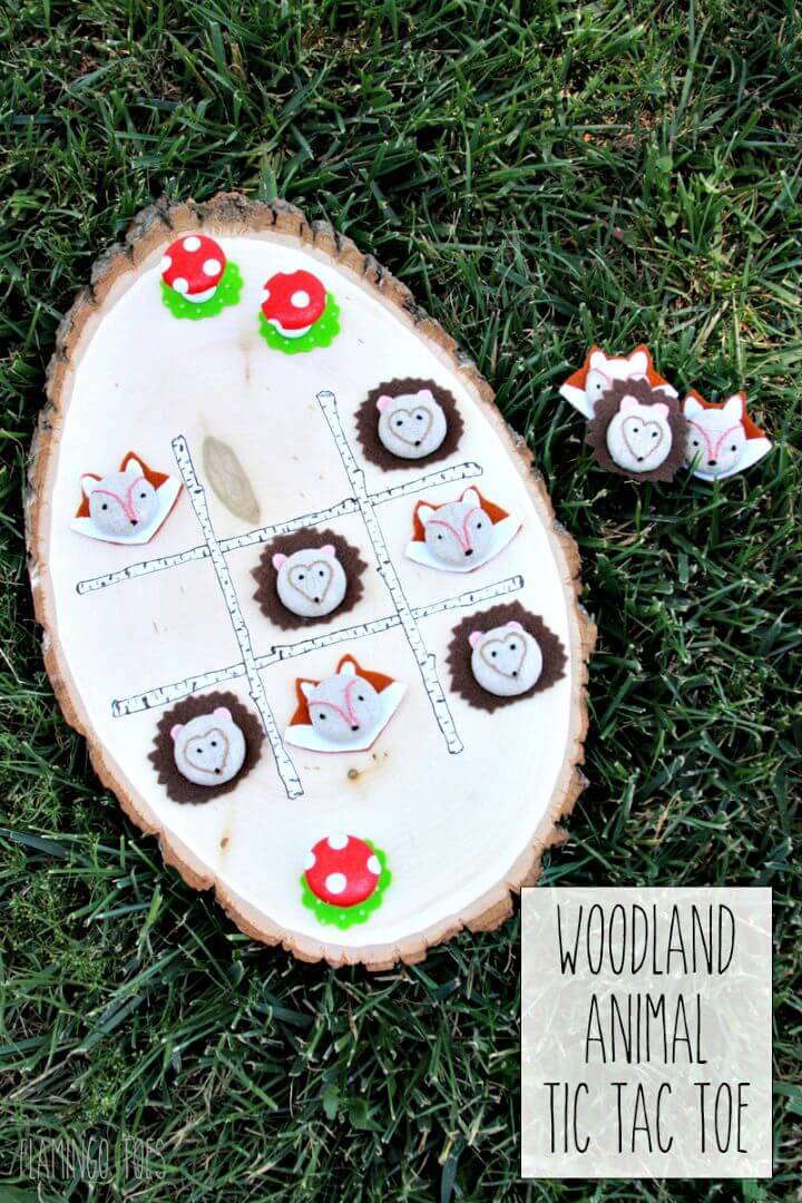 DIY Woodland Animals Tic Tac Toe