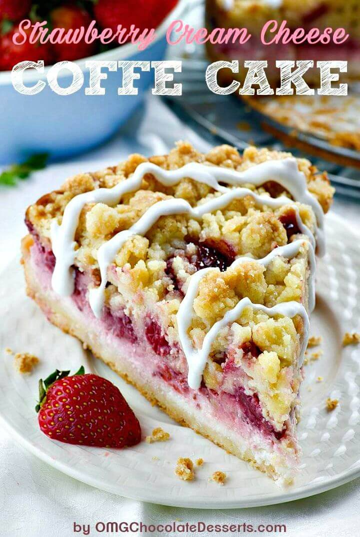 Delicious Strawberry Cheesecake Coffee Cake Recipe
