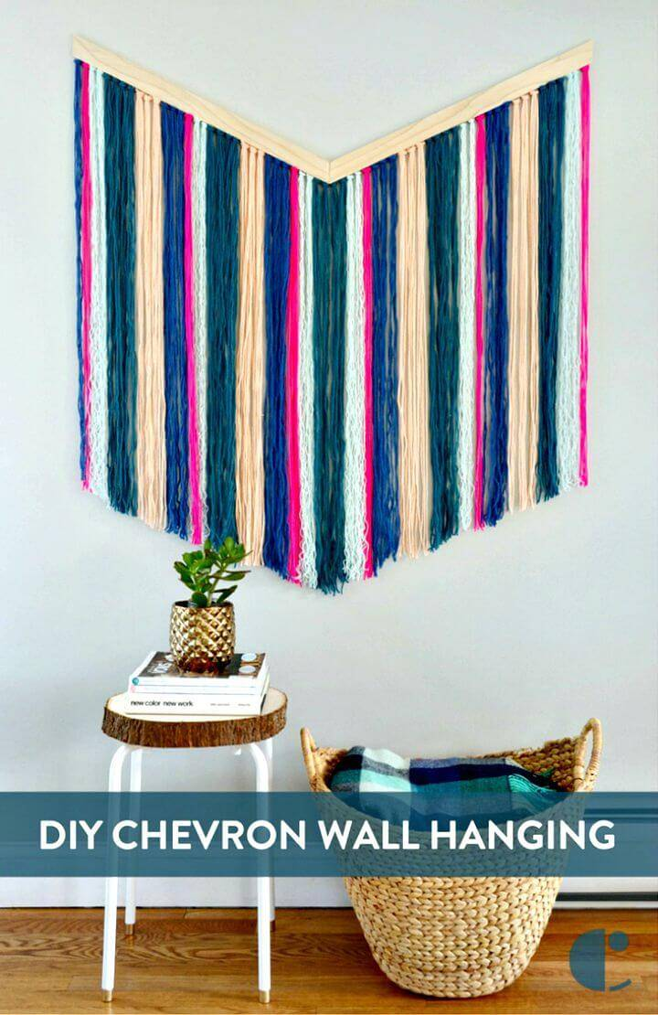 DIY Chevron Yarn Wall Hanging - Craft with Chevron Pattern