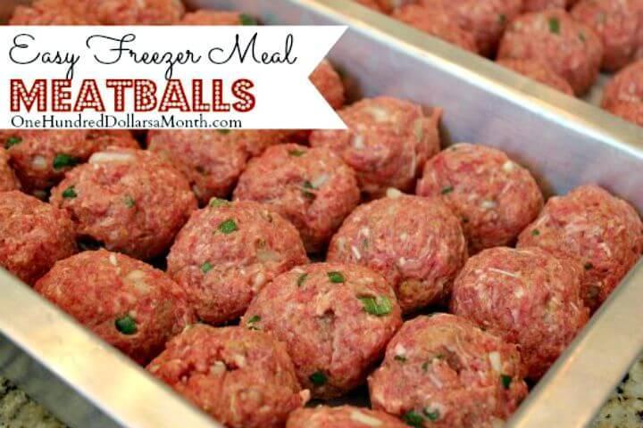 Easy Freezer Meal Meatballs Recipe - DIY