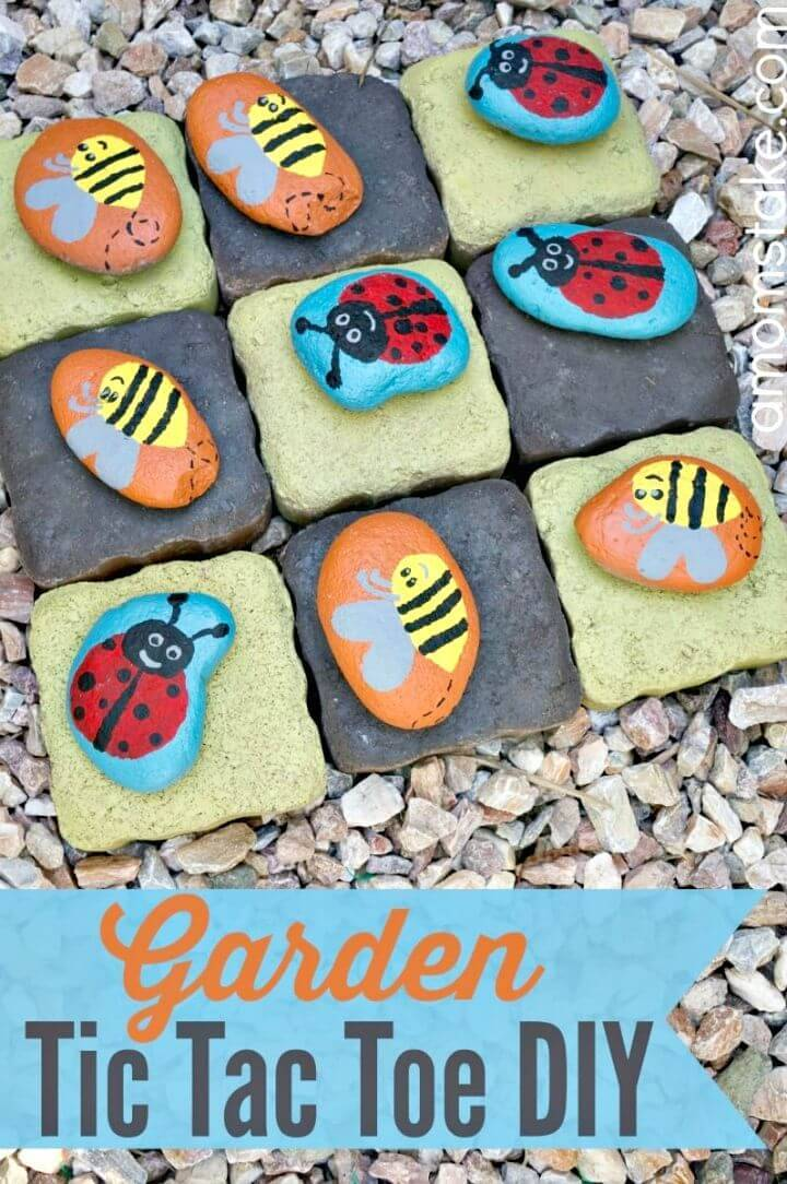 DIY Garden Tic Tac Toe - DIY Game Projects
