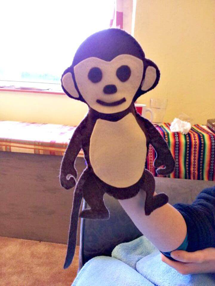 DIY Stitch and Glue Monkey Hand Puppet