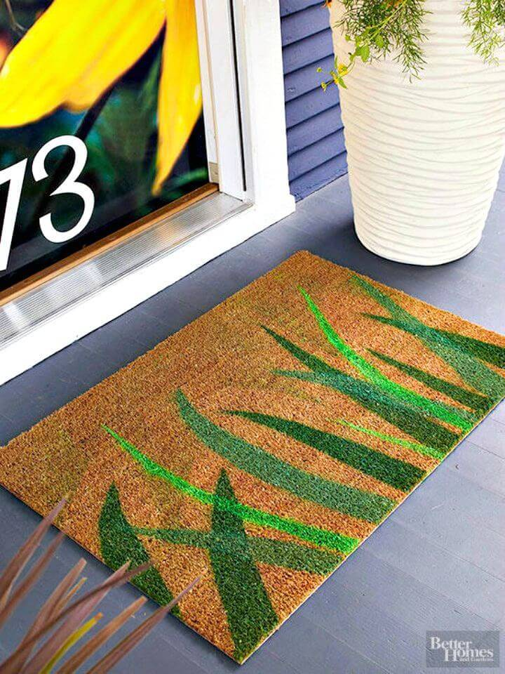 Easy To Make A Painted Doormat