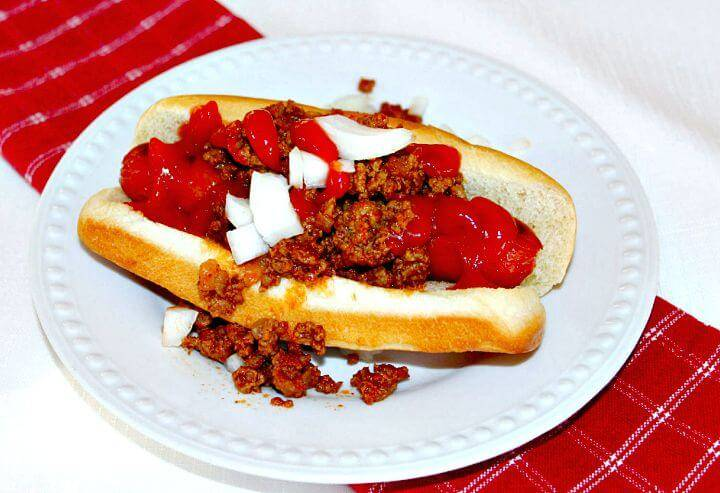 Skillet Hot Dog Chili Recipe