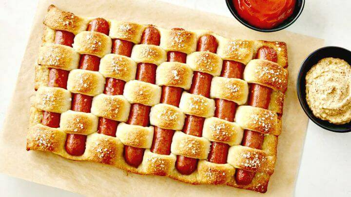 Fun and Easy Weave Of Hot Dogs Recipe